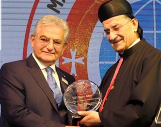 "Patriarch Rai honors Dr.Sfeir with the ""Patriarchal medal"""