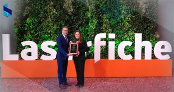Laserfiche Awards 2018 Tom Wayman Leadership Award to Josephine el-Koreh of Bank of Beirut