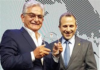 تكريم صفير في مؤتمر الطاقة الإغترابية ، لبنان