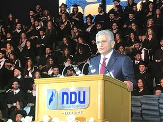 Dr. Sfeir guest speaker at  NDU Commencement