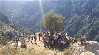 An event so eagerly awaited … the hiking trip to Wadi Qannoubin!