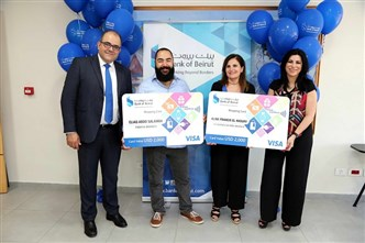 "Bank of Beirut Delivers USD 4,000 to the ""Winner Account"" Holders"