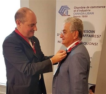 Badge of Honor for Dr. Sfeir from CCI Montreal