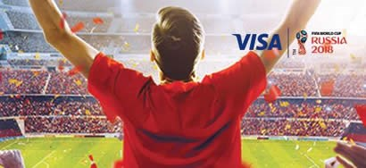 Use visa cards for a unique FIFA World Cup Experience